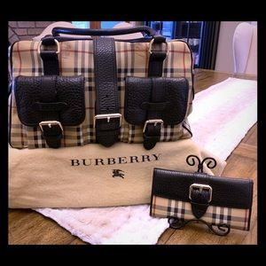 Burberry classic Haymarket tote and wallet